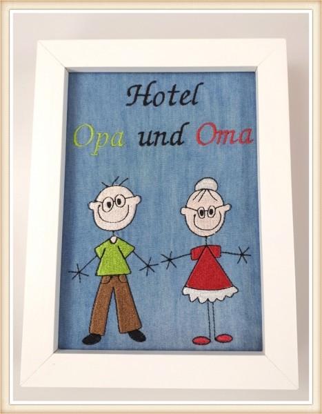 "Stickbild ""Hotel Opa und Oma"""