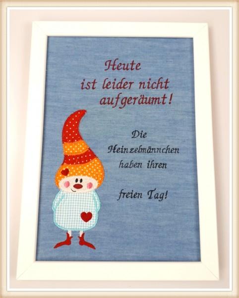 """Stickbild """"Heinzelmännchen"""""""
