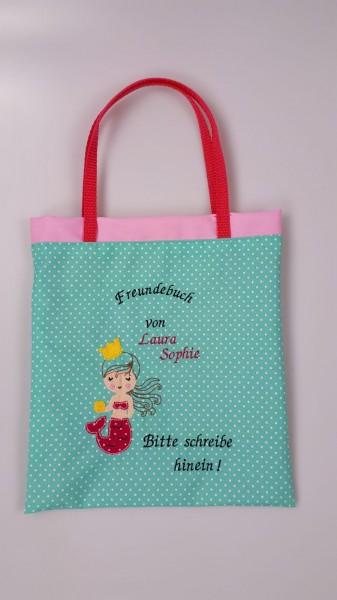 "Freundebuchtasche ""Meerjungfrau"""