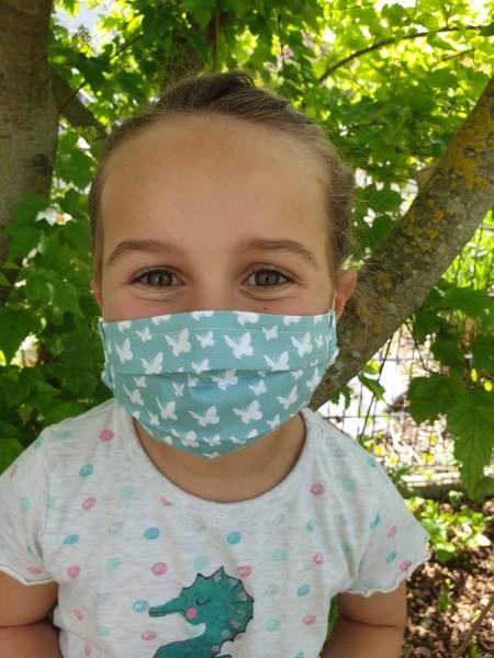 Behelfsmasken für Kinder mit Falten