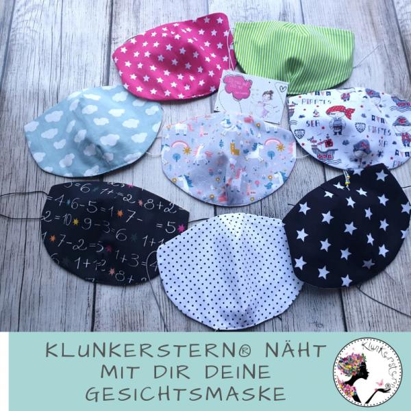 06.10.2020 15.00-16.30 Uhr Onlinekurs: Klunkerstern näht mit Dir Deine Gesichtsmaske!