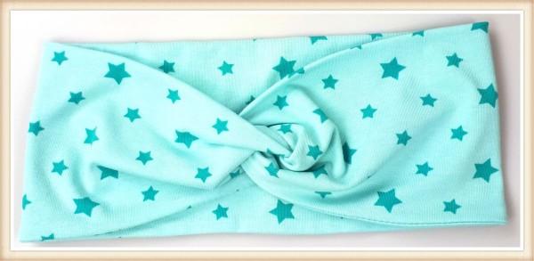 Haarband türkise Sterne