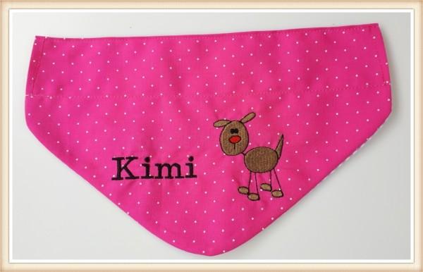 Hundehalstuch pink