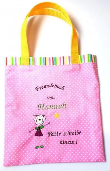 "Freundebuchtasche ""Mädchen"", pink"