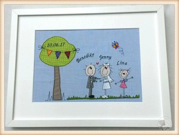 """Großes Hochzeitsbild """"Brautpaar unterm Baum"""""""