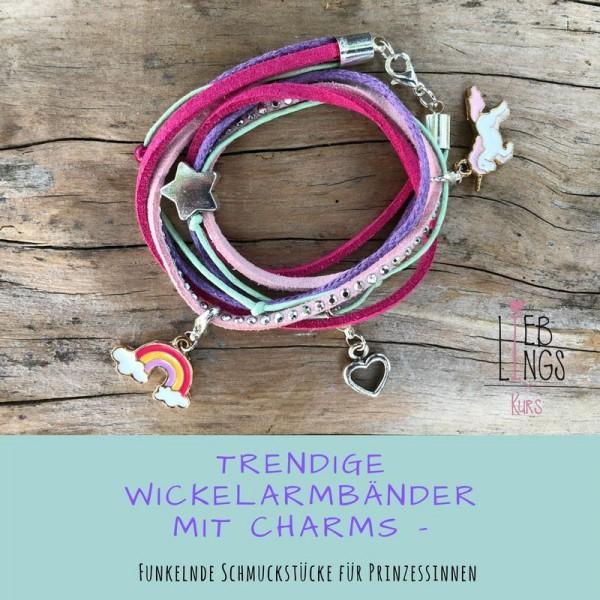 01.02.2020 13.00-15.00 Uhr Trendige Wickelarmbänder mit Charms (ab 6 Jahre)