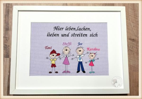"""Stickbild """"Familie"""" für Einzug, Umzug, Haus"""