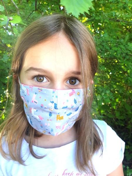 Nähpaket - Einhorn: Gesichtsmaske für Kinder