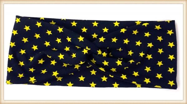Haarband gelbe Sterne
