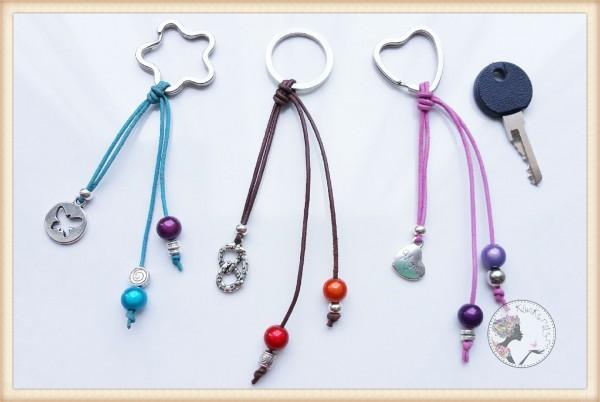 Leder-Schlüsselanhänger mit Anhänger