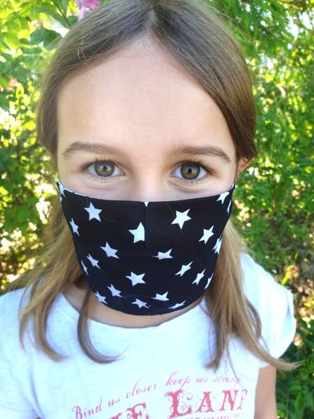 Nähpaket - Schwarze Sterne: Gesichtsmaske für Kinder
